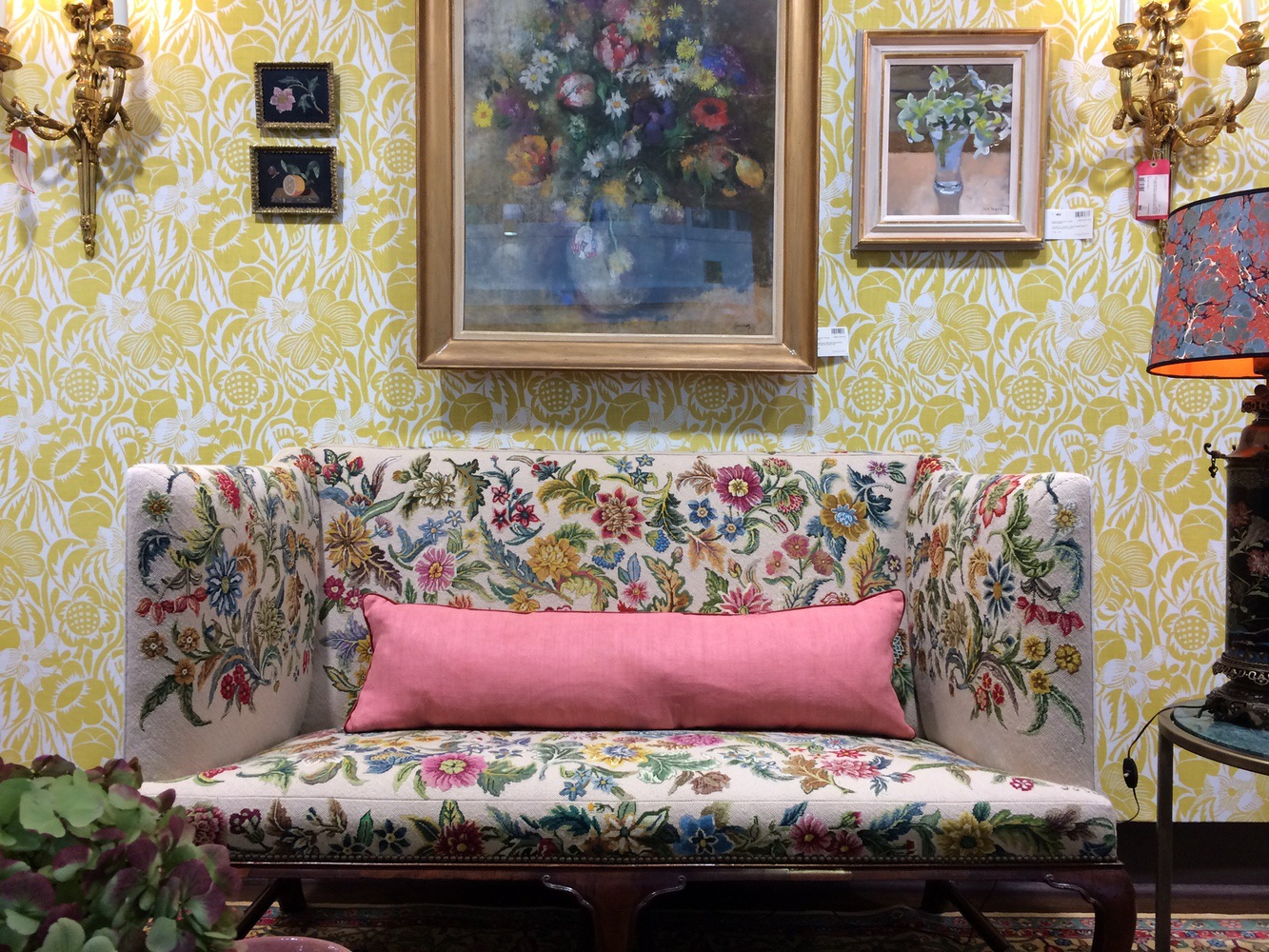 A Room set at Christies for House & Garden lounge chair