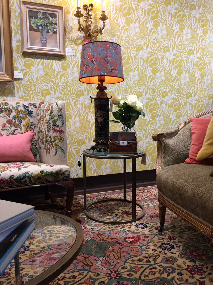 A Room set at Christies for House & Garden