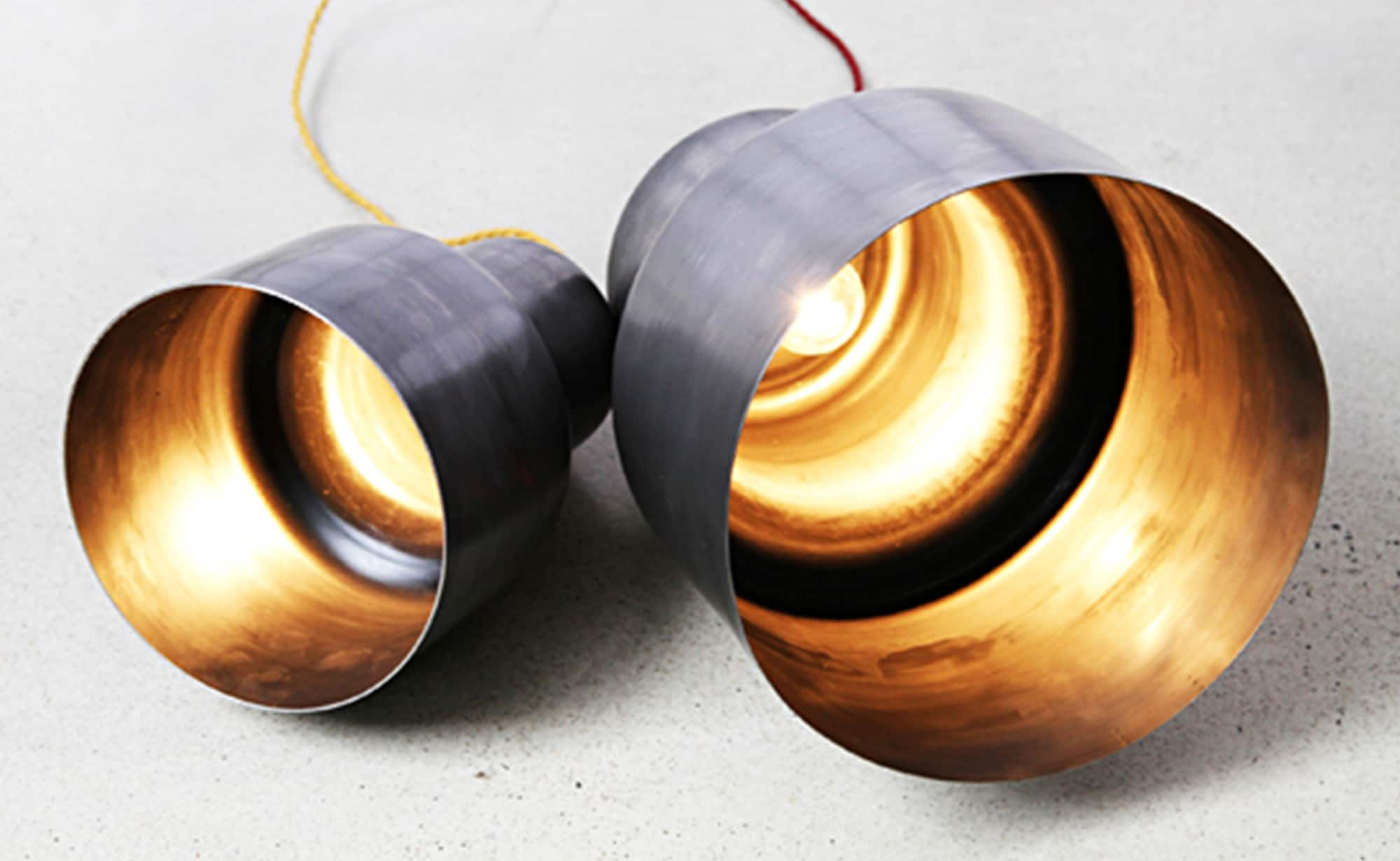 Product image for Spun steel pendants