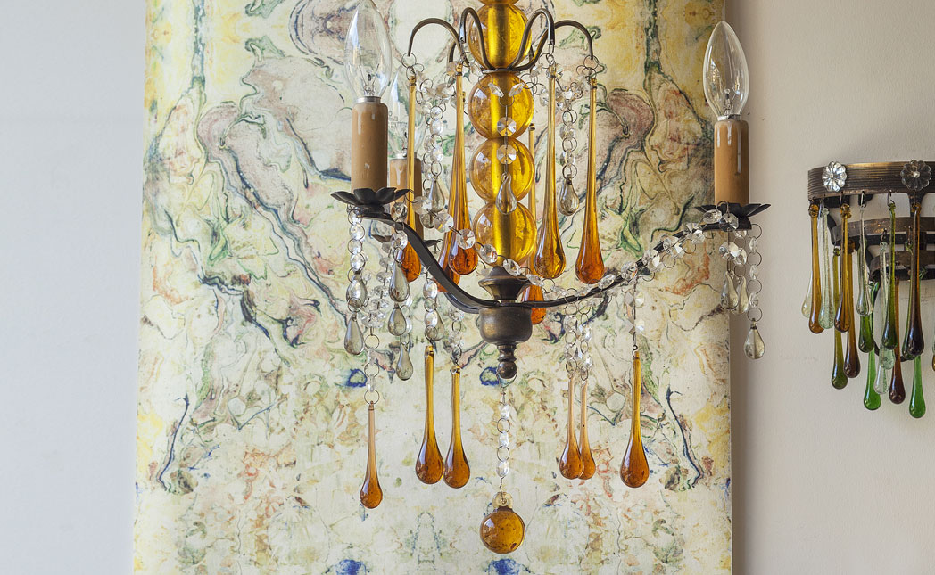 Product image for Vintage Glass Chandelier