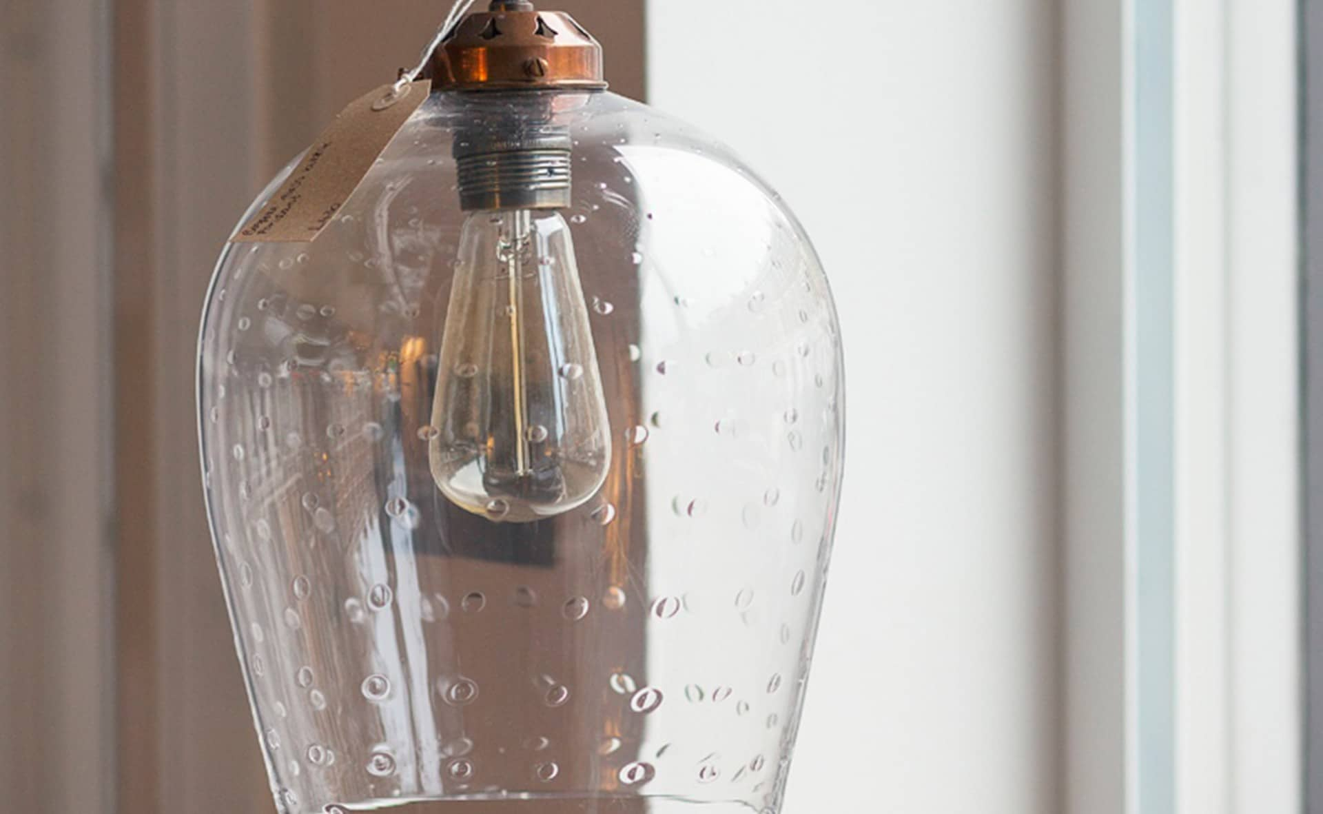 Product image for Bespoke Glass Bubbled Pendant Light