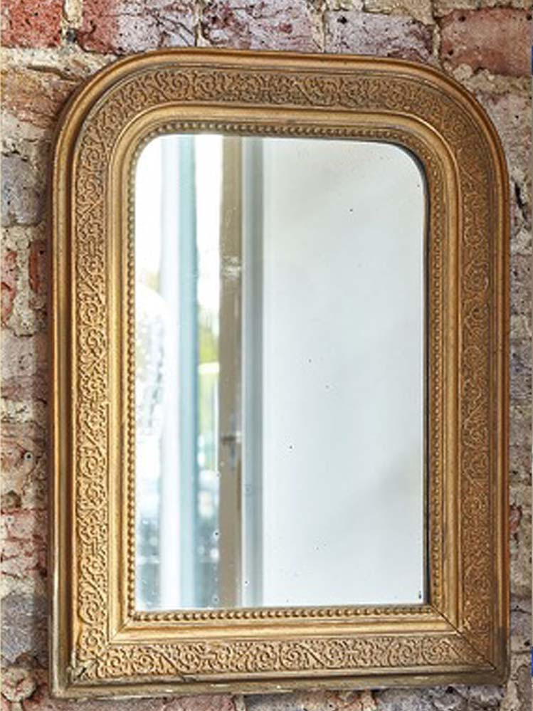 French Antique gilded mirror