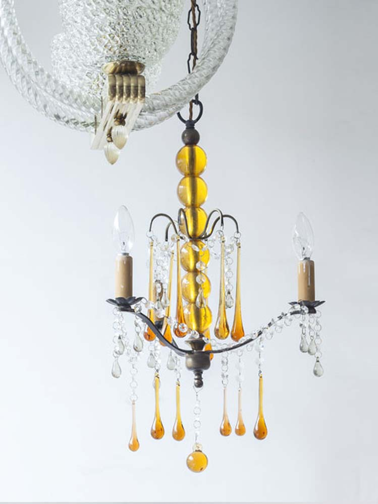 Vintage Glass Chandelier