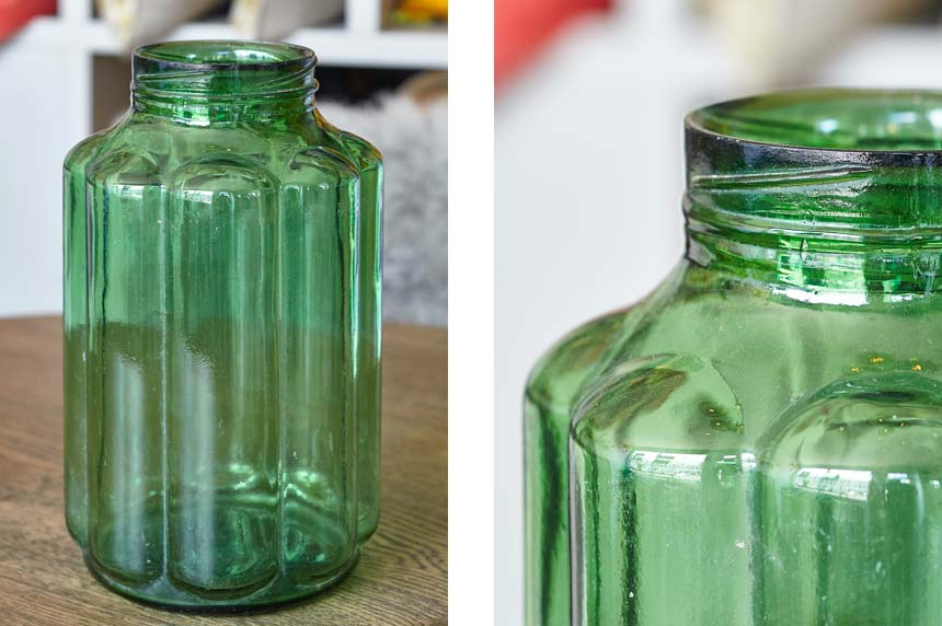 Product image for VINTAGE GREEN PICKLE JARS