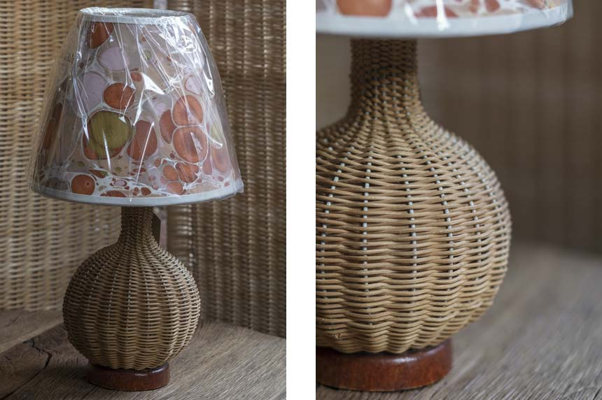 Product image for Vintage rattan table lamp