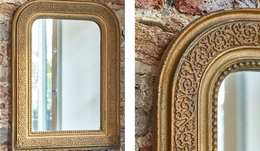 Product image for French Antique gilded mirror