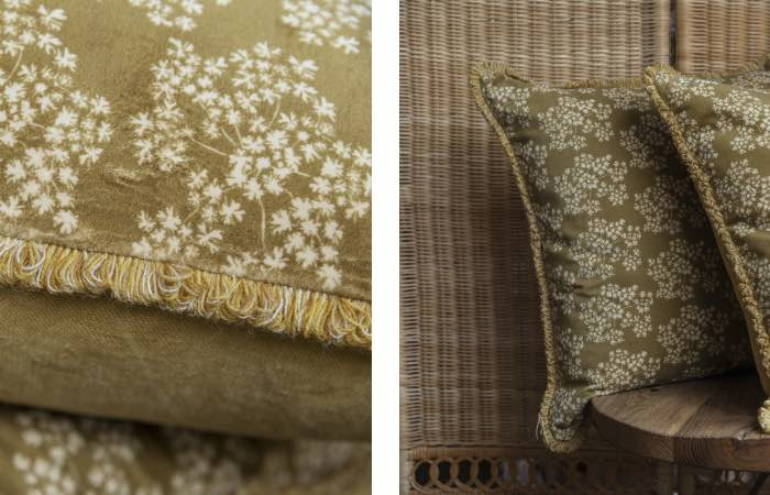 Product image for Ochre Velvet & Trim cushions