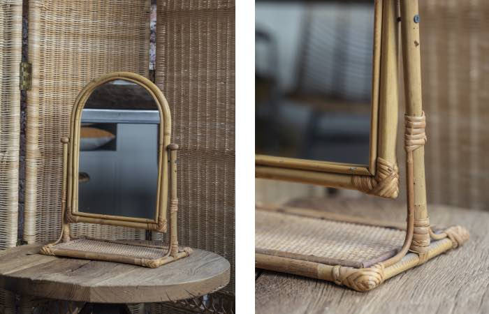 Product image for Vintage rattan mirror