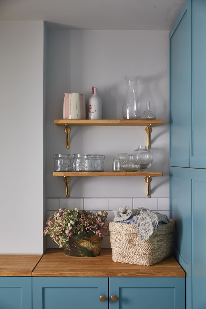 Interior Design of a colourful utility room in Primrose Hill London NW1