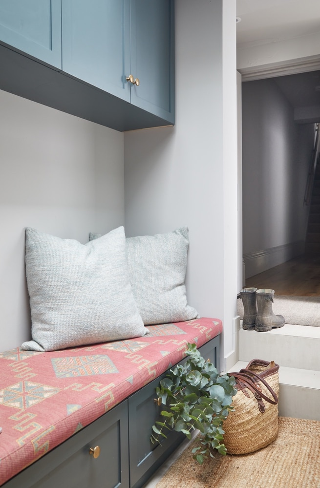 Interior Design of a boot room in Primrose Hill London NW1