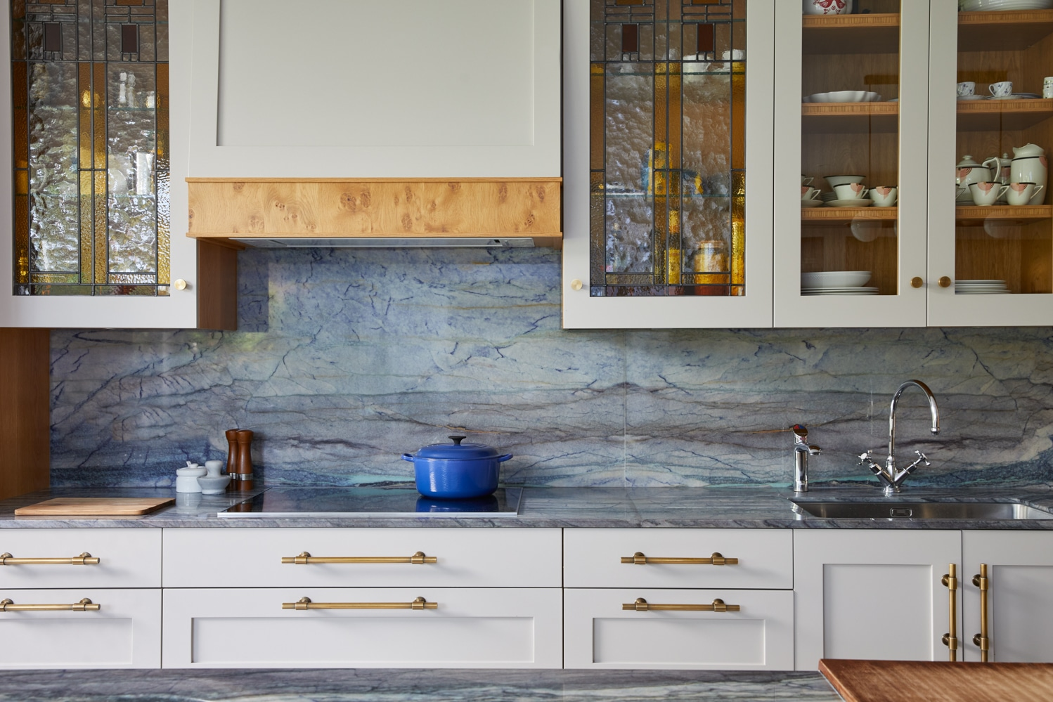 Bespoke hand made kitchen designed by Cave Interiors Highgate